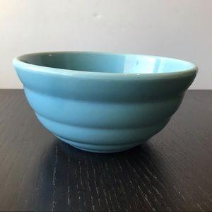 Bauer Vintage # 24 Blue Pottery Mixing Bowl